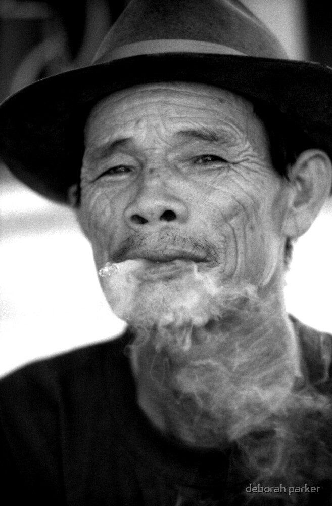 smoking man by deborah parker