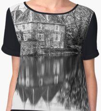 Kent Oast House black and white Chiffon Top