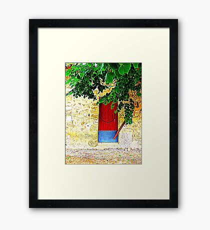 A Door In Orient.....................................Majorca Framed Print