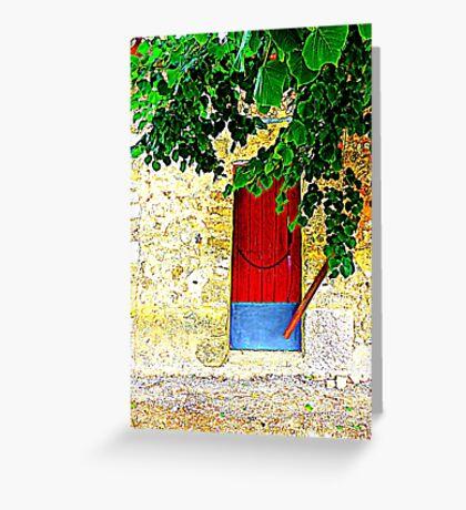 A Door In Orient.....................................Majorca Greeting Card