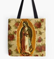 Mexican Virgin Mary of Guadalupe Catholic Religious Christian Tote Bag
