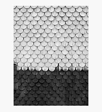 SHELTER / white and black Photographic Print