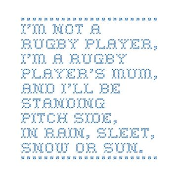 Rugby Mum - Cross Stitch by rugbygifts