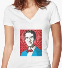 Bill Nye - It's Not Magic, It's Science Women's Fitted V-Neck T-Shirt