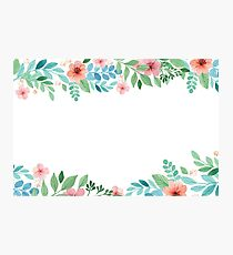 Watercolor Floral Spring Photographic Print