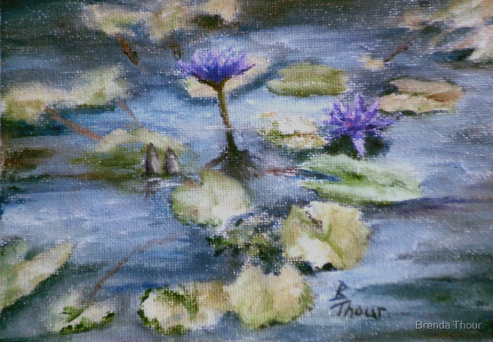 Purple Lily by Brenda Thour