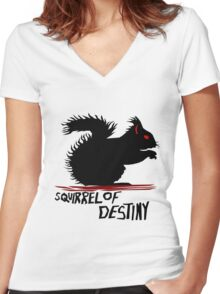 Squirrel of Destiny Women's Fitted V-Neck T-Shirt