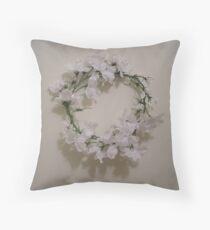 essence of heidi - wedding headpiece - antiqued  Throw Pillow