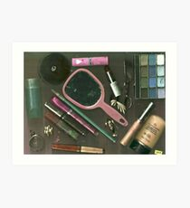 Beauty Product Collage Art Print