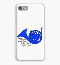 HIMYM - Right Time, Right Place - Blue Horn iPhone Case/Skin