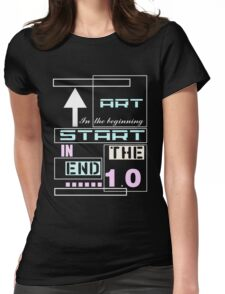 Art in the beginning Womens Fitted T-Shirt