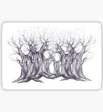 Oak, natural, background, design, illustration, tree Sticker