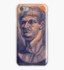 Drawing portrait of male ancient figure iPhone Case/Skin