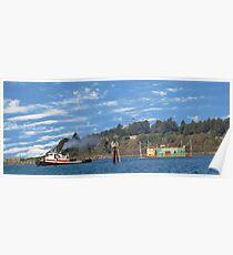 Newport Oregon - Yaquina Bay Traffic Poster