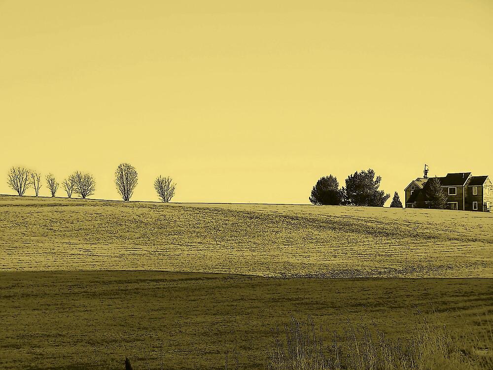 Hilltop In Yellow by Gene Cyr