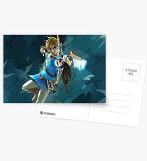 Die Legende von Zelda: Atem von wilden nützlichen Gegenständen Sammlung Postkarten