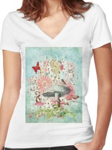 Serendipity! Women's Fitted V-Neck T-Shirt