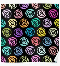 Circles Abstract Seamless Pattern II Poster