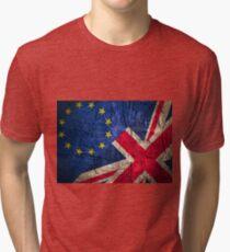 United Kingdom EU Europe Flag Mix Tri-blend T-Shirt