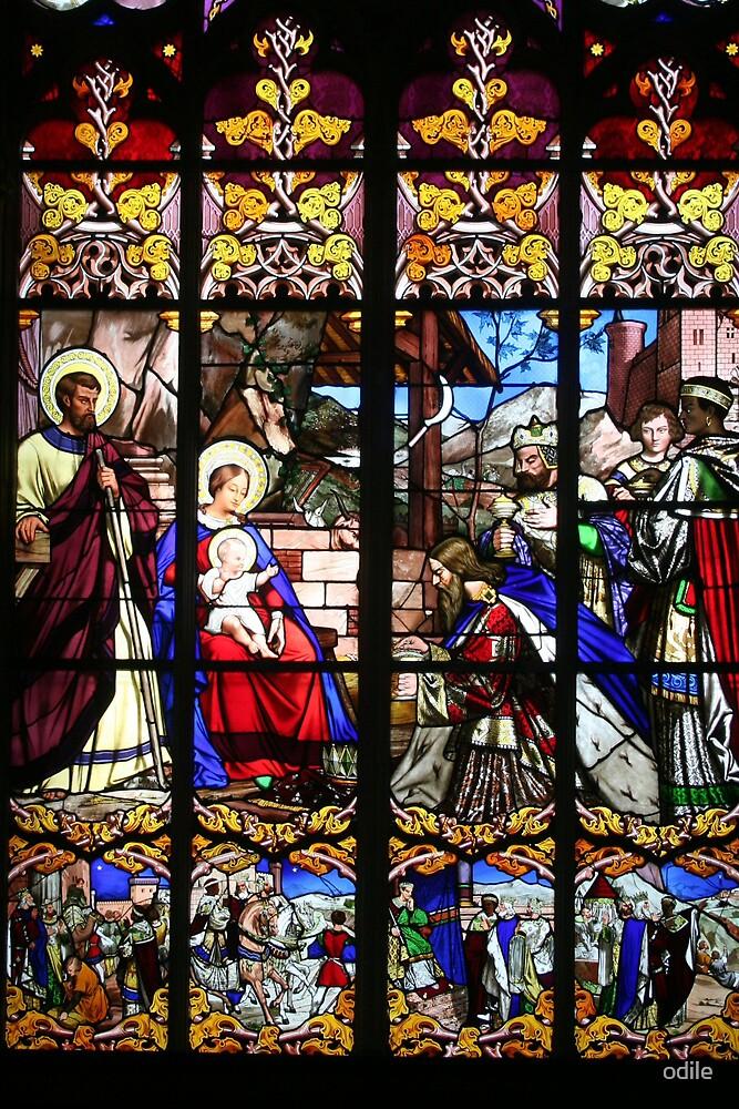 nativity  scene by odile