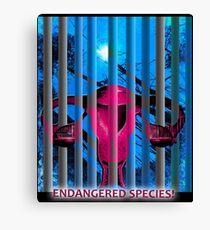 Endangered Species! Canvas Print