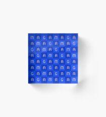 MAGA - Blue Acrylic Block
