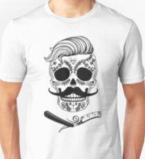 Barber Sugar Skull Unisex T-Shirt