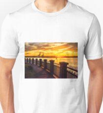Sunrise at the harbor Unisex T-Shirt