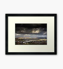 A Storm Approaches in the Welsh Valleys Framed Print