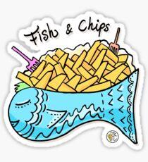 Fish & Chips Sticker