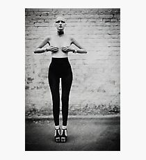 fashion bw film girls art Photographic Print