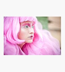 fashion bw film girls art pink Photographic Print