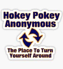 Hokey Pokey Anonymous Sticker