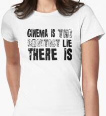 Film Moives Cinema Cool Quotes Movie Buff Retro T-Shirts Womens Fitted T-Shirt