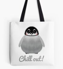CHILL OUT PENGUIN CHICK Tote Bag