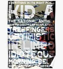 Radiohead - Kid A Album Song List Design #1 Poster