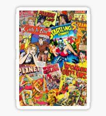 Vintage Comic Book Collage  Sticker