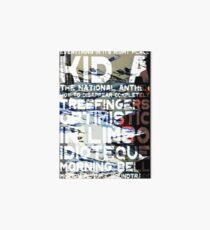 Radiohead - Kid A Album Song List Design #1 Art Board
