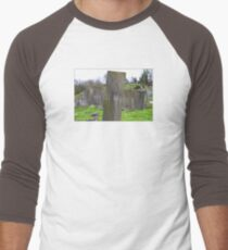 Jesu Mercy Tombstone Cross Men's Baseball ¾ T-Shirt