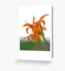 Lilies in the Air Greeting Card