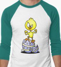 Easter Chick Men's Baseball ¾ T-Shirt