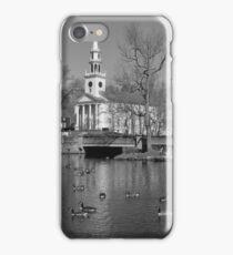Milford Congregational Church BW iPhone Case/Skin