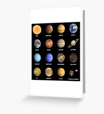 Solar System Planets  Greeting Card