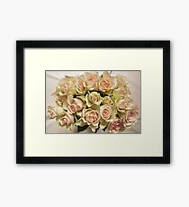 roses beautiful bouquet Framed Print