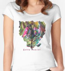 JUST DANCE COLOURFUL BALLERINA ABSTRACT Women's Fitted Scoop T-Shirt