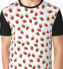 strawberry print Graphic T-Shirt