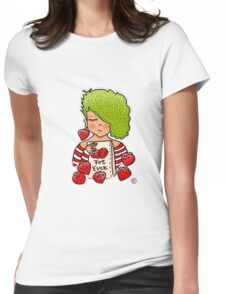 Strawberry girl! Womens Fitted T-Shirt