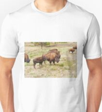 Bison Mom and Son Unisex T-Shirt