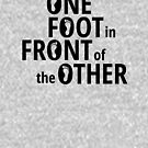 One Foot In Front Of The Other - Black by yayandrea