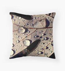 Sprinkled Leaf Throw Pillow